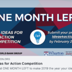 2019 Ideas for Action Competition by the World Bank